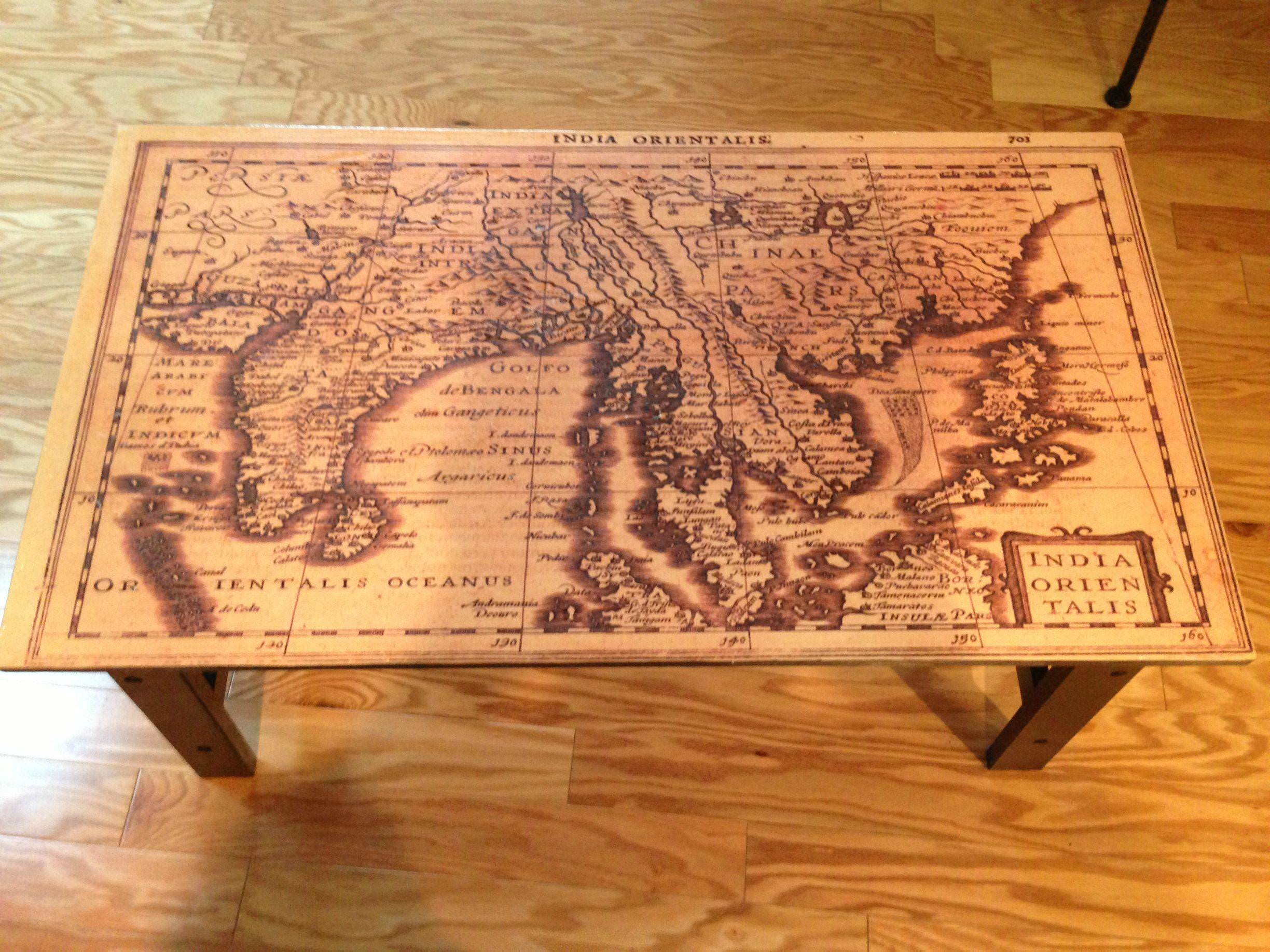 Custom Geographically Appealing Map Table D I Y Bullseye