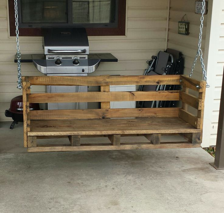 How to make a country pallet porch swing d i y bullseye for How to make a pallet porch swing