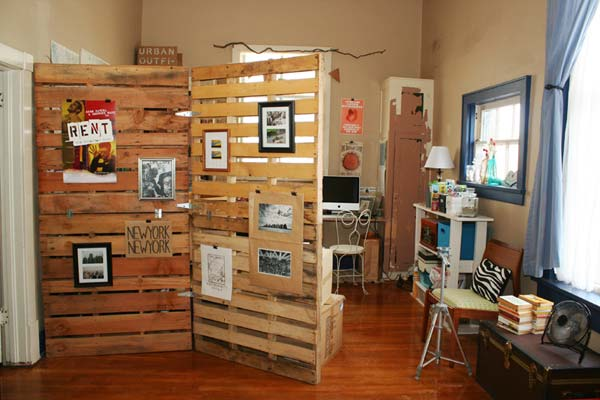 Build an inexpensive room divider d i y bullseye for How to make your own room divider