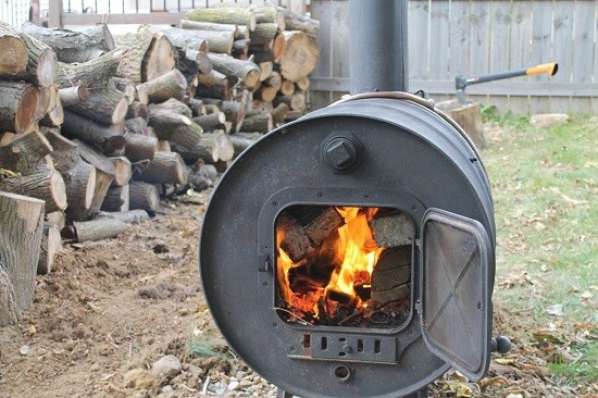 Warm Things Up In Your Backyard With This Fire Barrel That