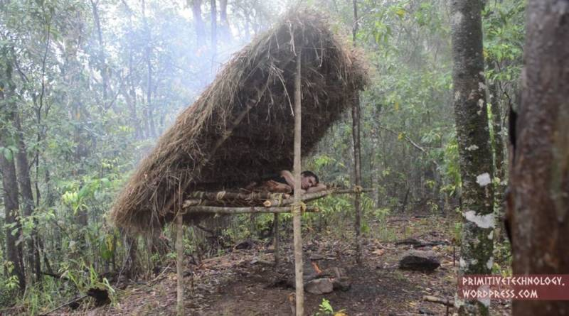 Man Uses Stone Age Tools To Build Bed Shed D I Y Bullseye