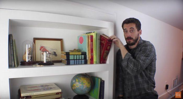 how to make a secret door